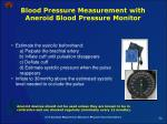 blood pressure measurement with aneroid blood pressure monitor56