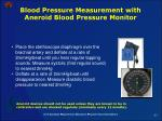 blood pressure measurement with aneroid blood pressure monitor57