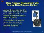 blood pressure measurement with aneroid blood pressure monitor58