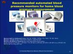 recommended automated blood pressure monitors for home blood pressure measurement