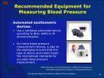 recommended equipment for measuring blood pressure19