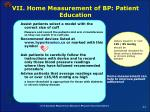 vii home measurement of bp patient education
