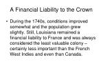a financial liability to the crown