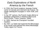 early explorations of north america by the french