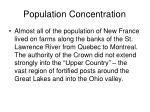 population concentration