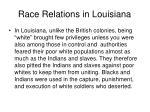 race relations in louisiana