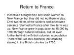 return to france