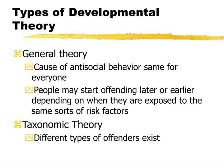 Types of Developmental Theory