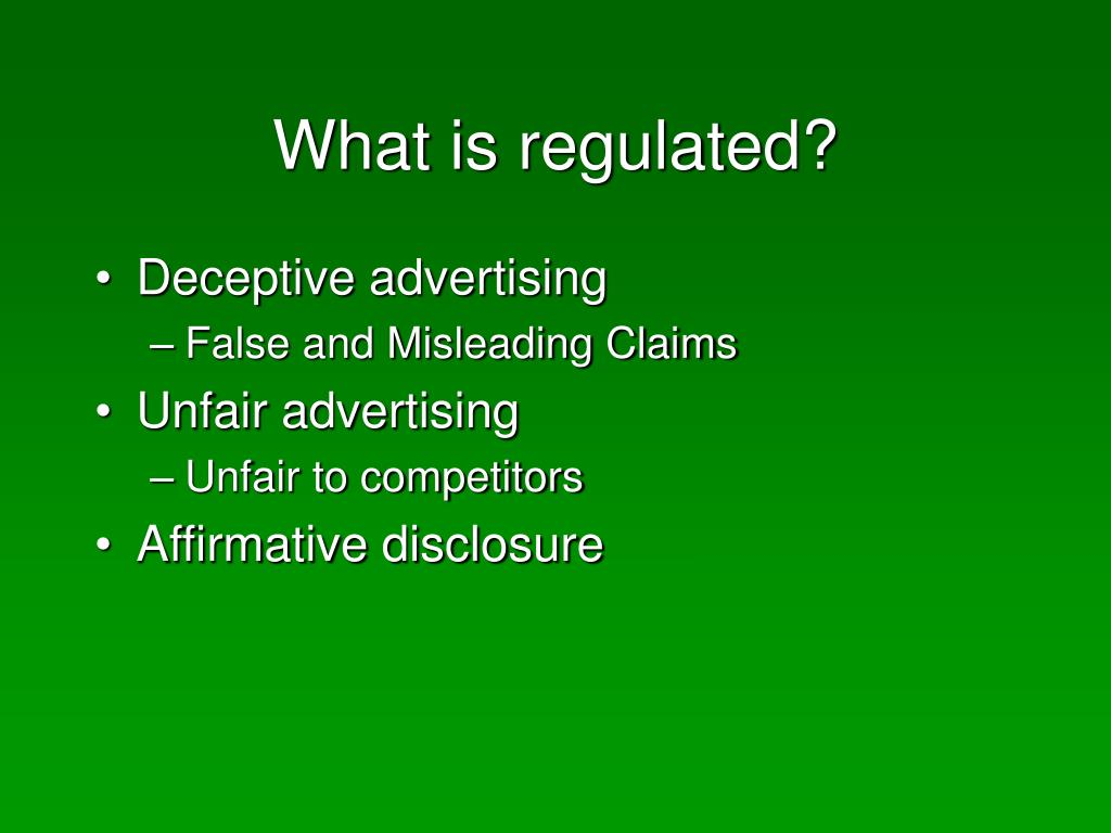 What is regulated?