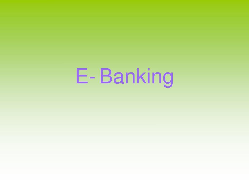 e banking l.