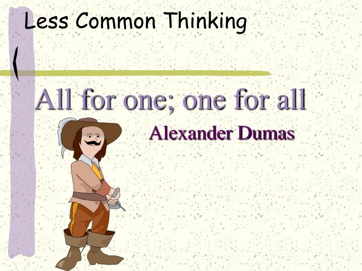 Less Common Thinking