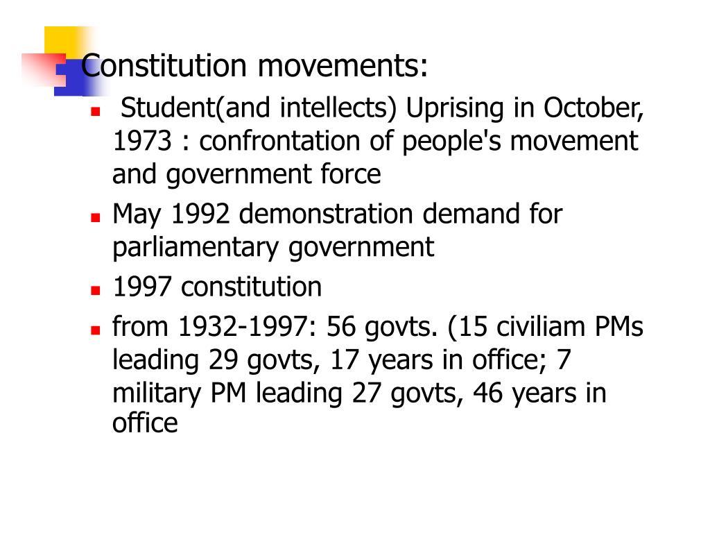 Constitution movements:
