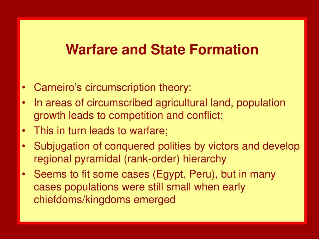 Warfare and State Formation