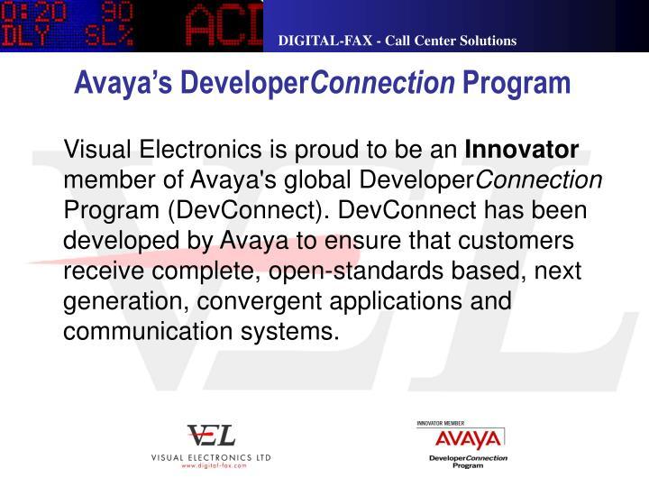 Avaya s developer connection program