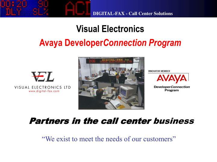 Visual electronics avaya developer connection program
