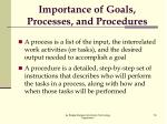 importance of goals processes and procedures1