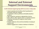 internal and external support environments1