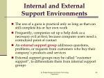 internal and external support environments2