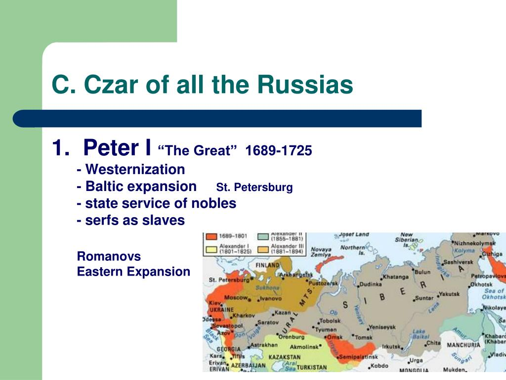 C. Czar of all the Russias