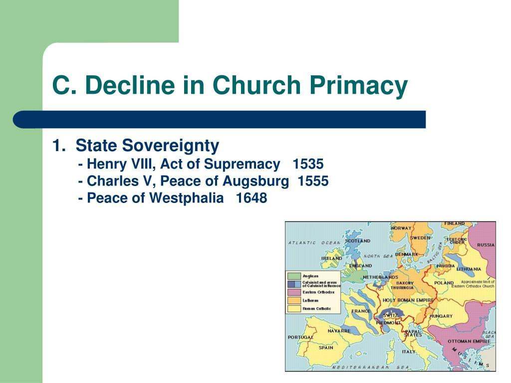 C. Decline in Church Primacy