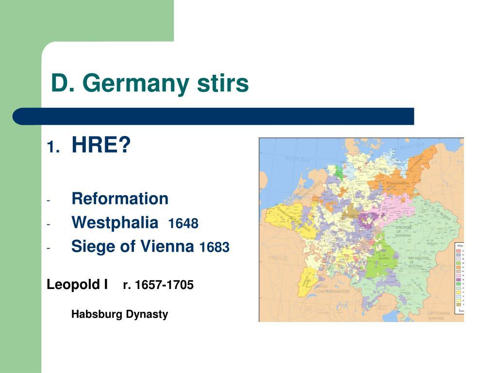 D. Germany stirs