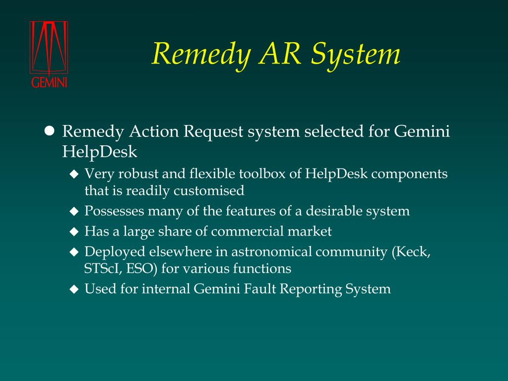 Remedy AR System