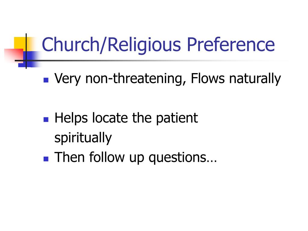 Church/Religious Preference