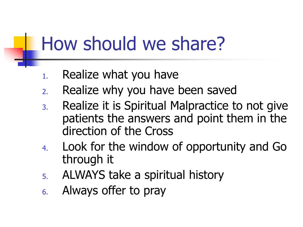 How should we share?