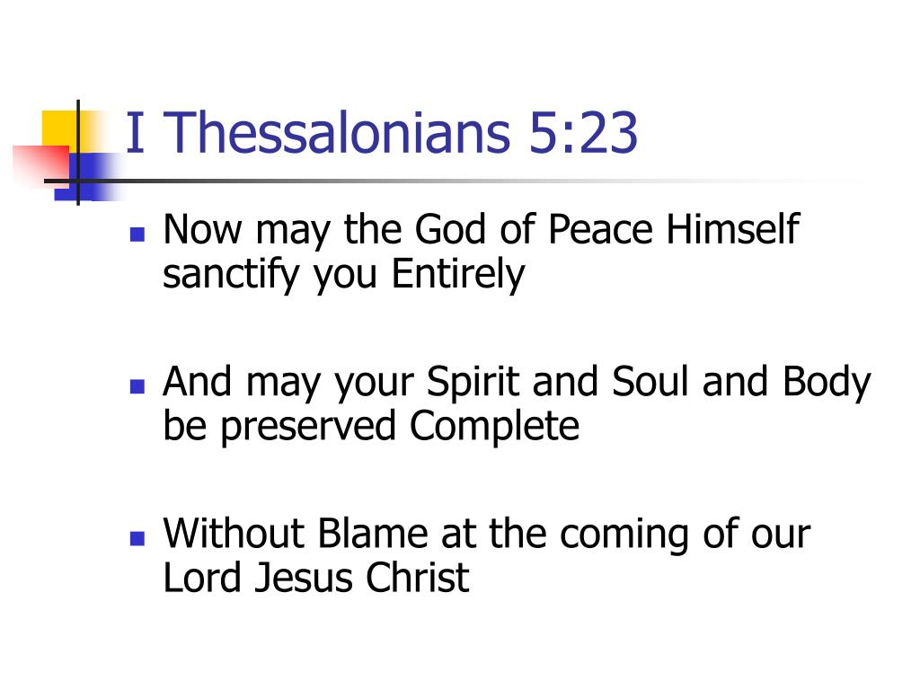 I Thessalonians 5:23