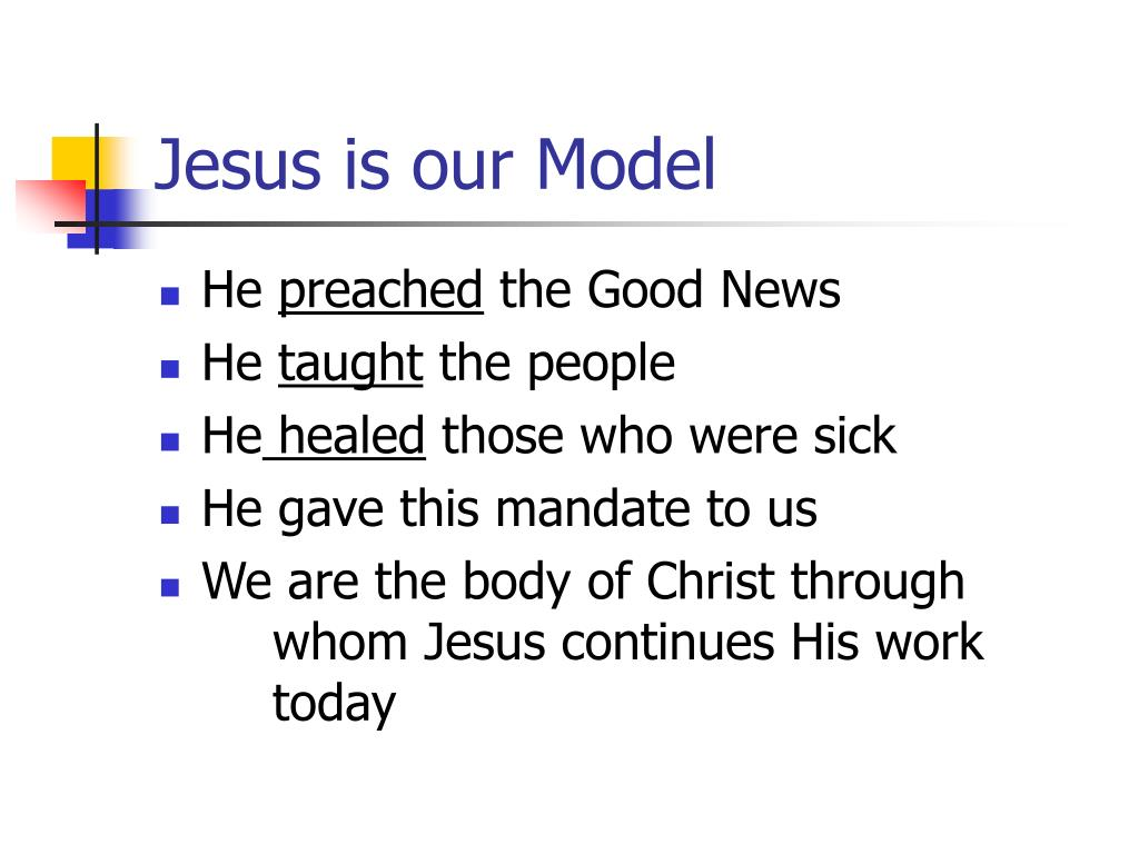 Jesus is our Model