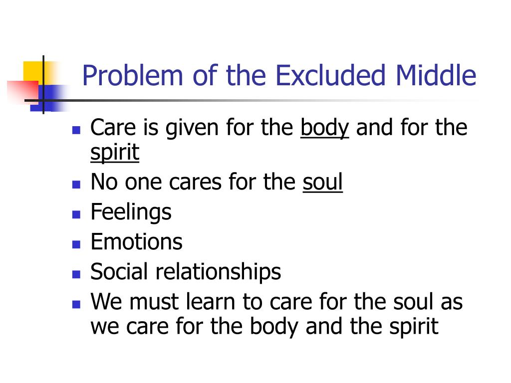 Problem of the Excluded Middle