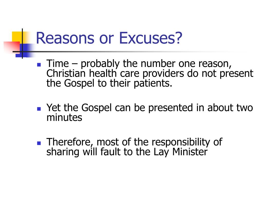 Reasons or Excuses?