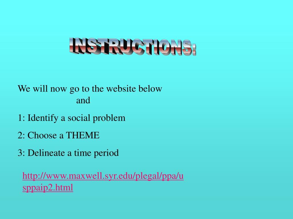 INSTRUCTIONS: