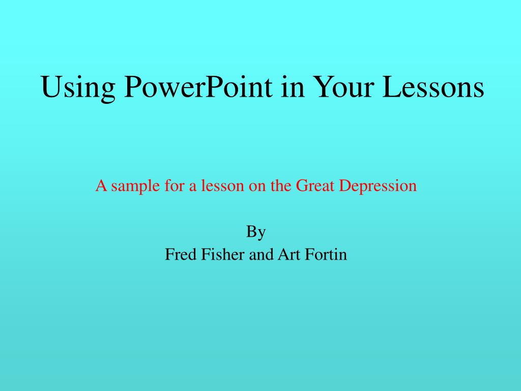 Using PowerPoint in Your Lessons