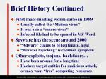 brief history continued