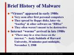 brief history of malware