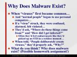 why does malware exist