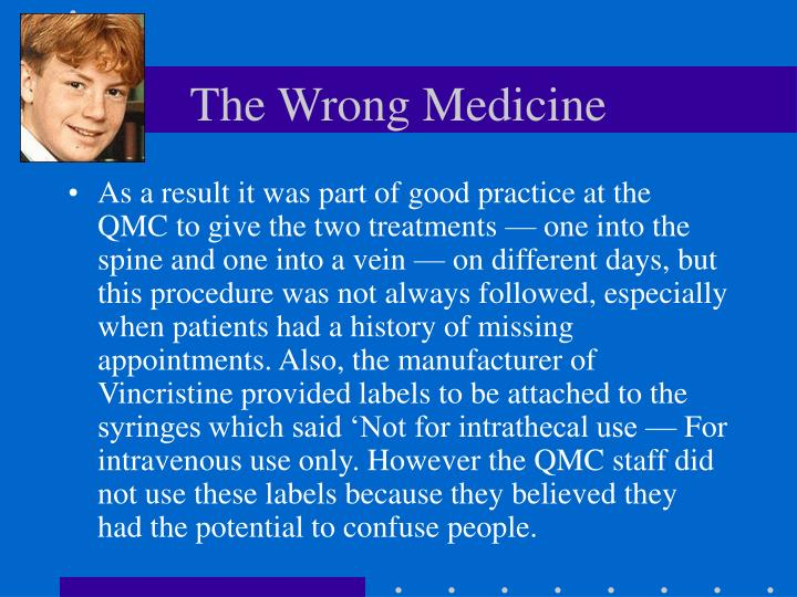 The Wrong Medicine