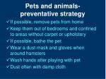 pets and animals preventative strategy