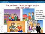 the de facto relationship an in between step