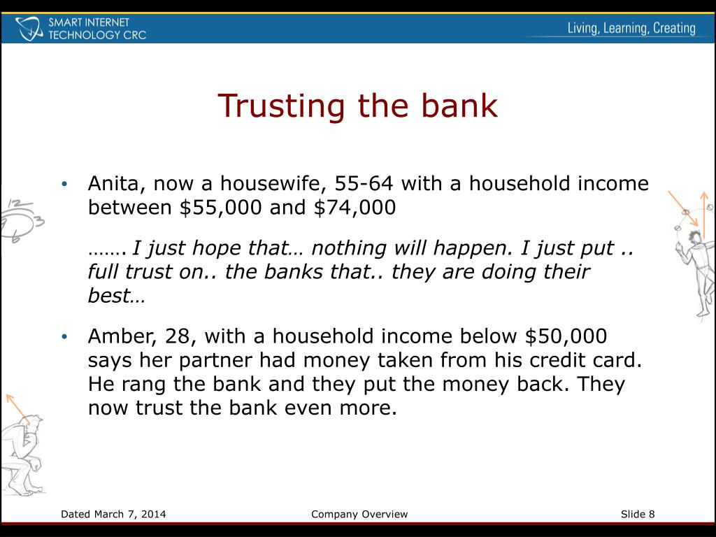 Trusting the bank