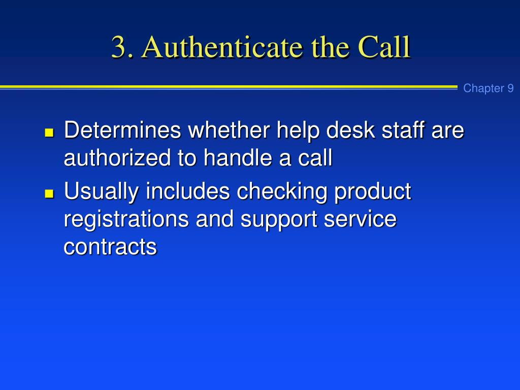 3. Authenticate the Call
