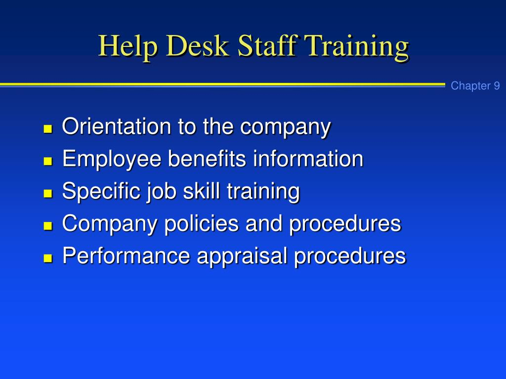 Help Desk Staff Training