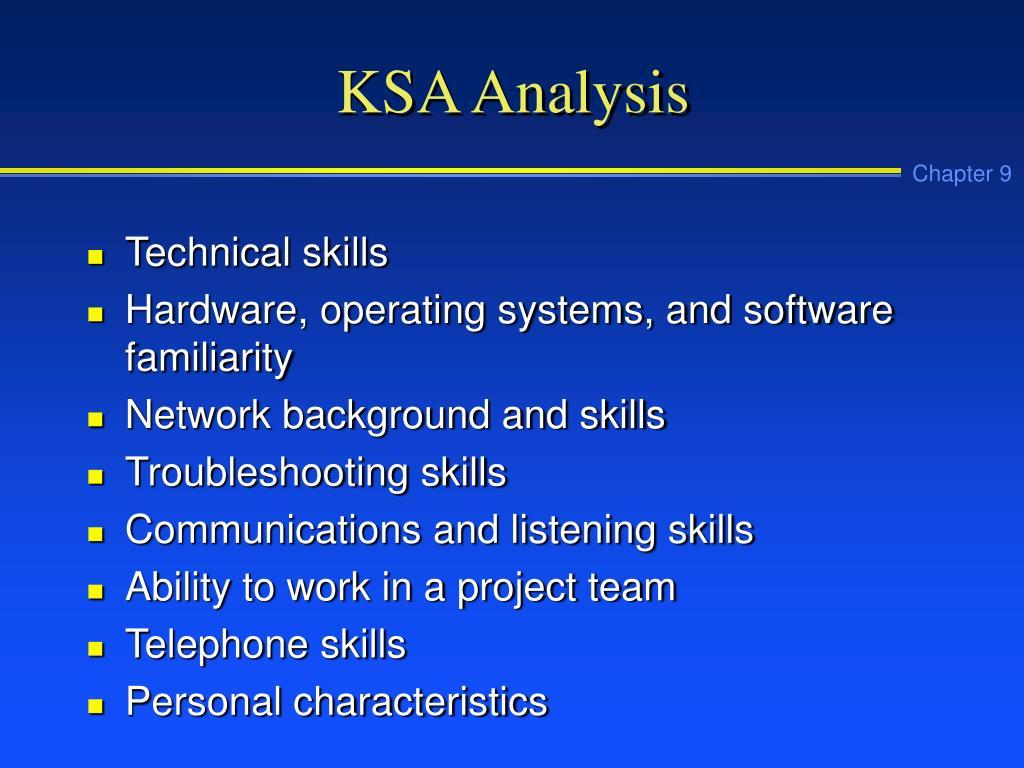 KSA Analysis