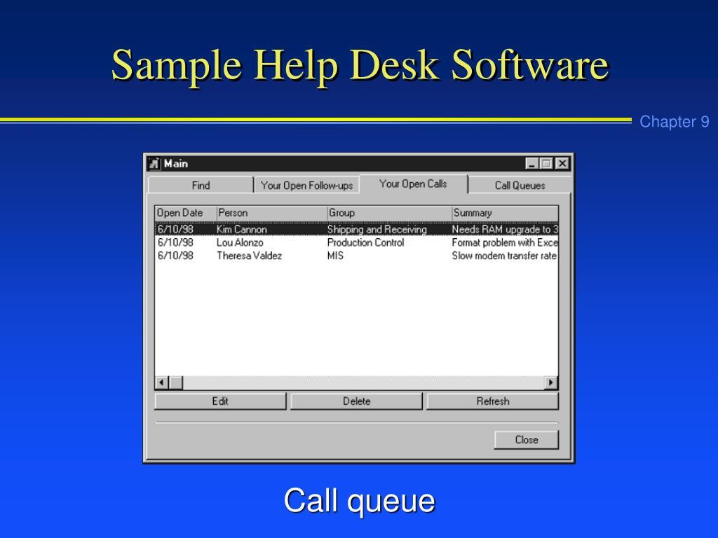 Sample Help Desk Software