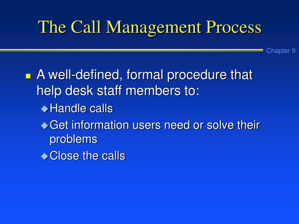 The Call Management Process