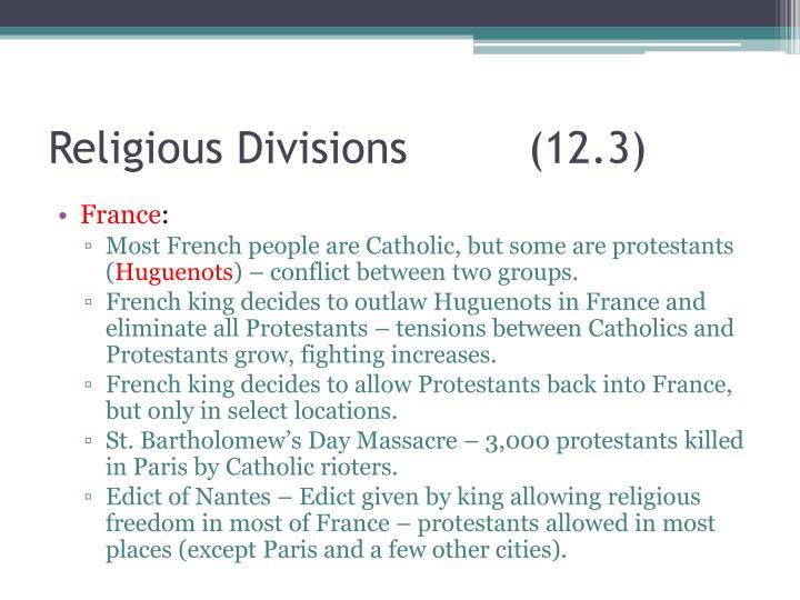 Religious Divisions(12.3)
