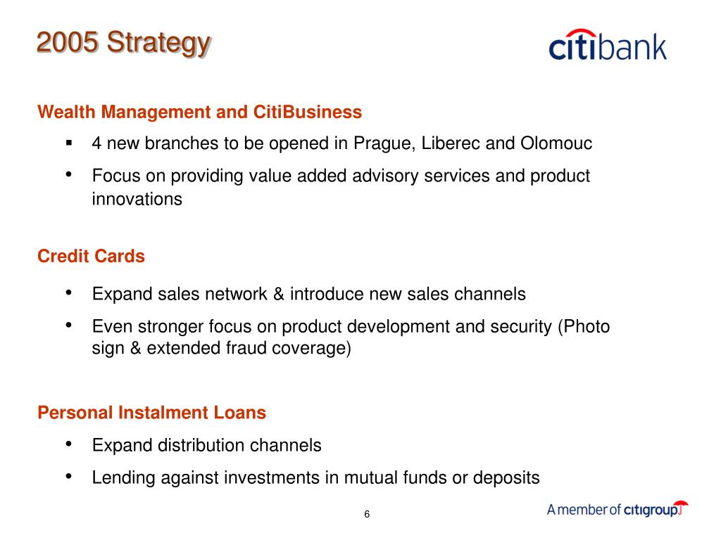 Wealth Management and CitiBusiness