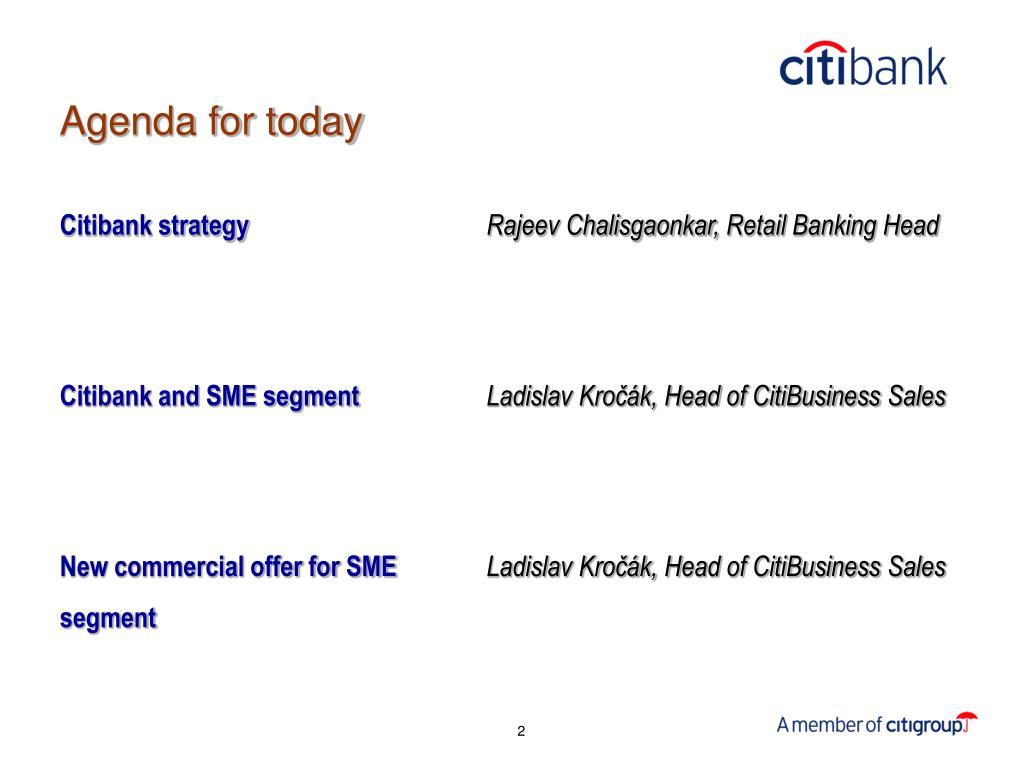 Citibank strategy