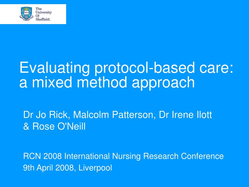Evaluating protocol-based care: a mixed method approach